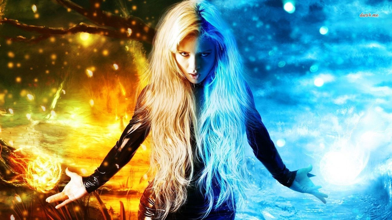 17871-woman-out-of-fire-and-ice-1366x768-digital-art-wallpaper