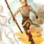 Rey by Dani Jones (Tumblr: danidraws)