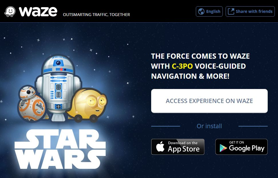 C-3PO Guides You through Traffic in the Star Wars Version of