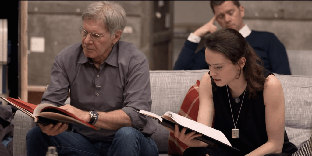 harrison-ford-and-daisy-ridley-at-the-star-wars-the-force-awakens-table-read