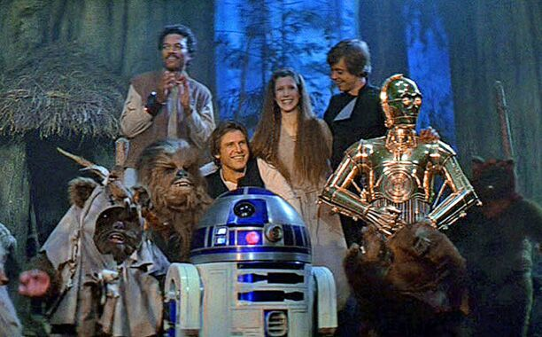 Exhibit B: the ultimate ending of the Rebellion. Also why is Luke checking out Leia? THEY BOTH KNOW THEY'RE RELATED AND HE STILL WANTS TO HIT THAT?!